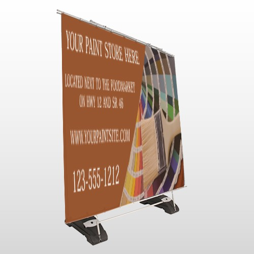 Paint Brushes 256  Exterior Pocket Banner Stand