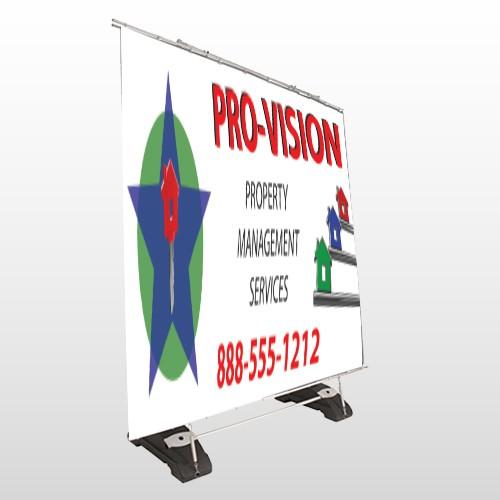 Property Management 363 Exterior Pocket Banner Stand