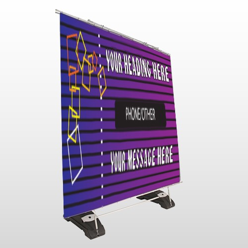 Purple Stripes 142 Exterior Pocket Banner Stand