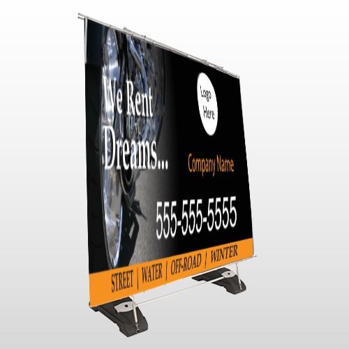 Rent Dreams 109 Exterior Pocket Banner Stand