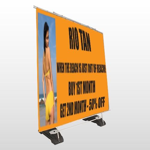 Rio Tan Beach 489 Exterior Pocket Banner Stand