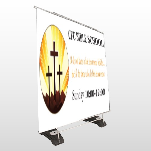 Shining Cross 161 Exterior Pocket Banner Stand