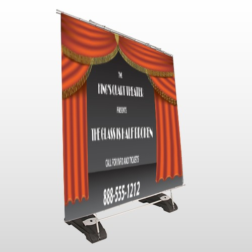 Theatre Curtains 521 Exterior Pocket Banner Stand
