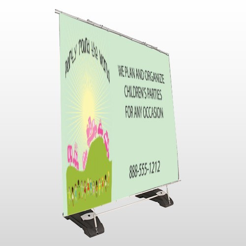 World Party Plan 520 Exterior Pocket Banner Stand