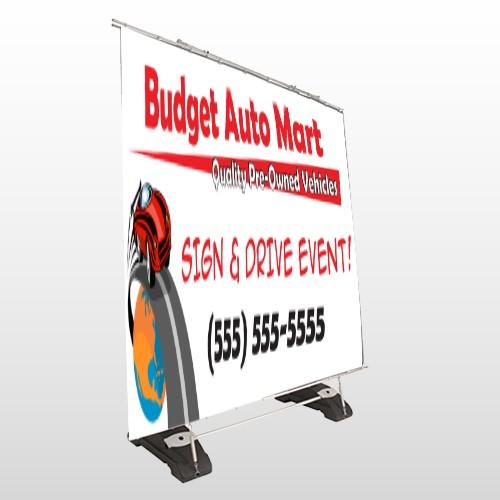 Budget Auto Mart 116 Exterior Pocket Banner Stand