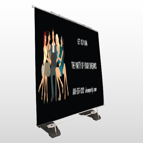 Party Planning 519 Exterior Pocket Banner Stand