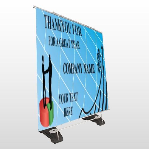 Pie Graph Arrows 05 Exterior Pocket Banner Stand