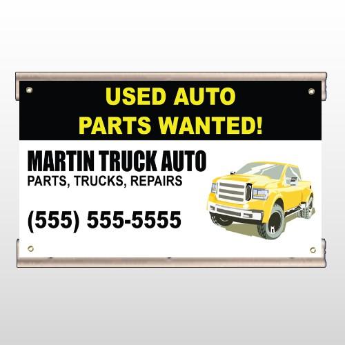 Black & Yellow Truck 326 Track Banner