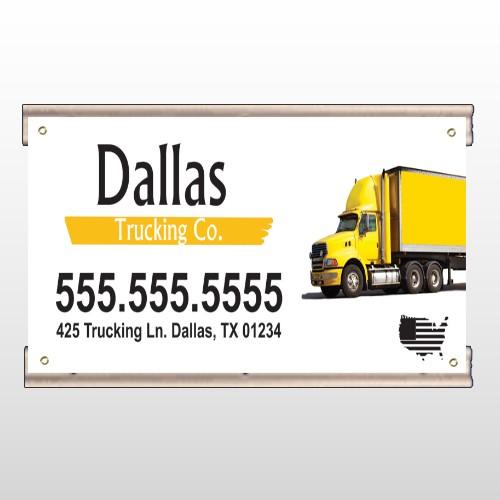 Yellow Truck 296 Track Banner
