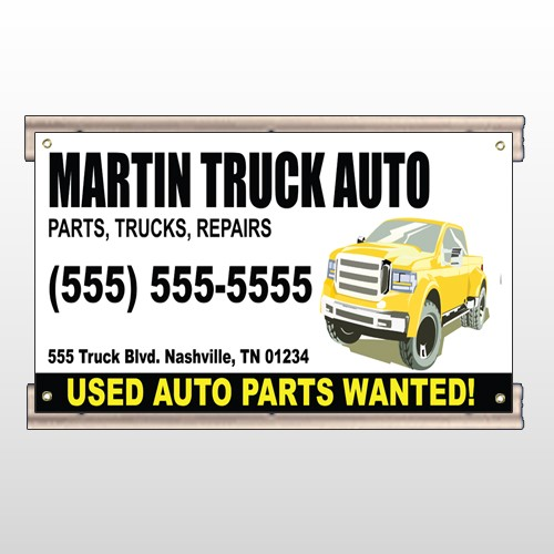 Black & Yellow Truck 117 Track Sign