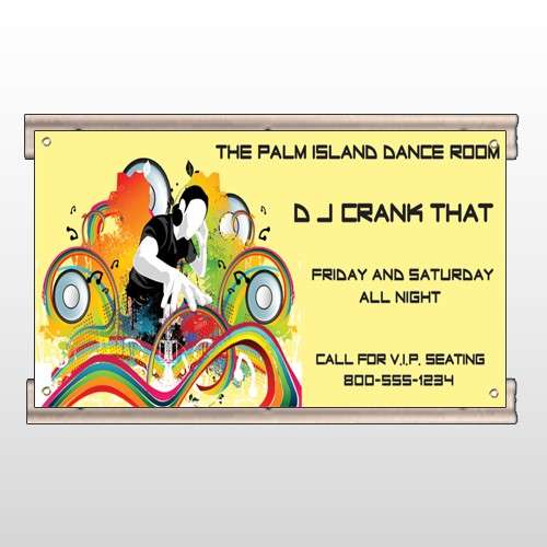 DJ Crank Night 369 Track Sign