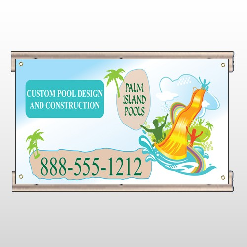 Palm Island Pool 534 Track Sign