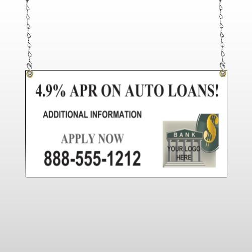 Auto Loan 173 Window Sign