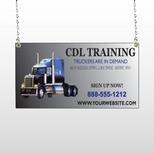 CDL Training 155 Window Sign