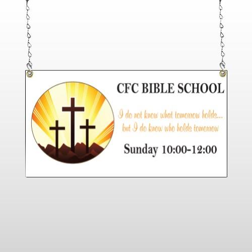 Shining Cross 161 Window Sign