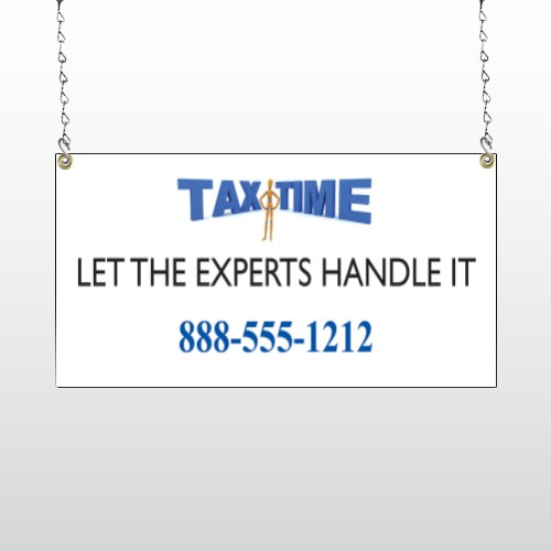 Tax Time 171 Window Sign