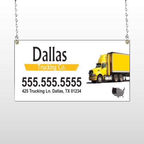 Yellow Truck 296 Window Sign