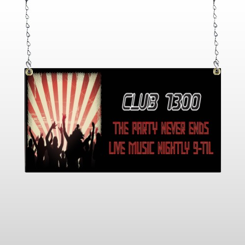 Night Club 523 Window Sign