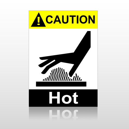 ANSI Caution Hot