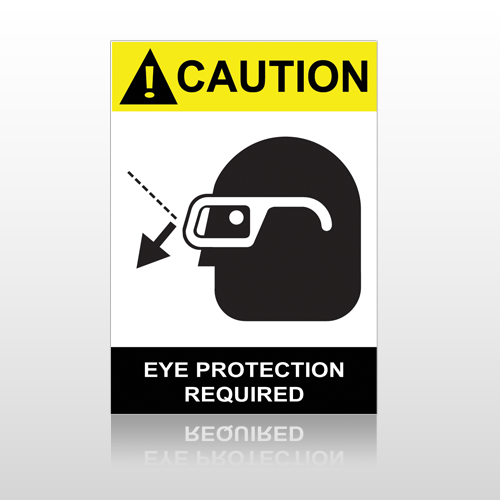 ANSI Caution Eye Protection Required