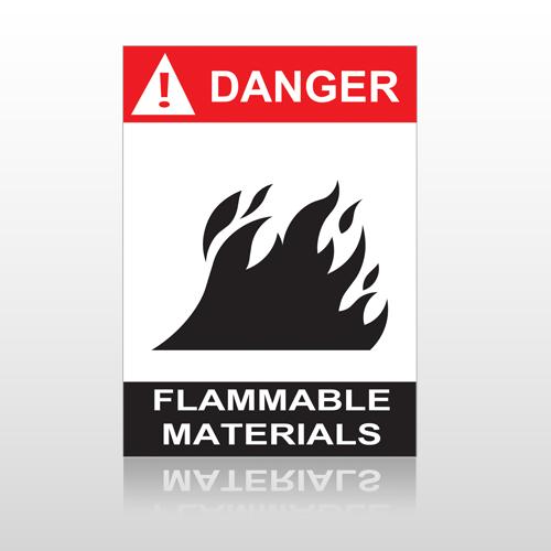 ANSI Danger Flammable Materials