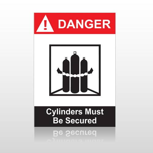 ANSI Danger Cylinders Must Be Secured