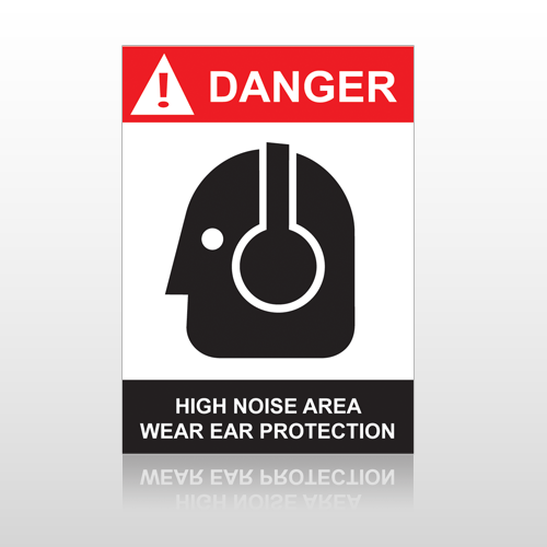 ANSI Danger High Voltage Area Wear Ear Protection