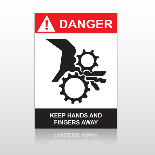 ANSI Danger Keep Hands And Fingers Away