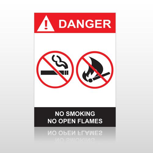 ANSI Danger No Smoking No Open Flames