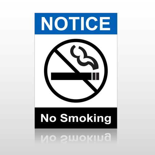 ANSI Notice No Smoking