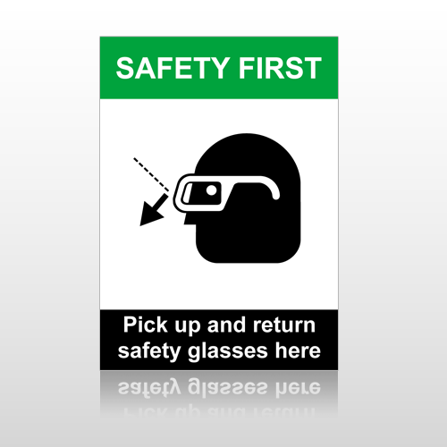 ANSI Safety Pick Up And Return Safety Glasses Here