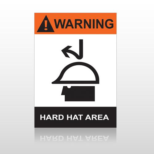 ANSI Warning Hard Hat Area
