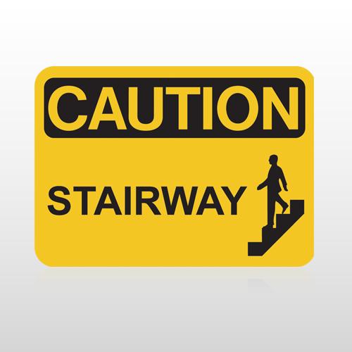 OSHA Caution Stairway