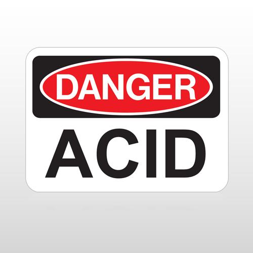 OSHA Danger Acid