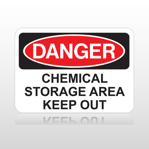 OSHA Danger Chemical Storage Area Keep Out