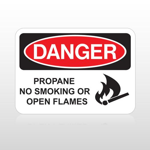 OSHA Danger Propane No Smoking Or Open Flames