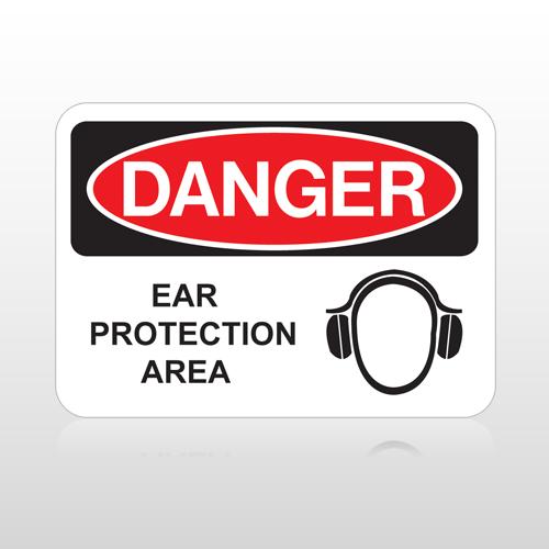 OSHA Danger Ear Protection Area