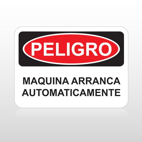 OSHA Peligro Maquina Arranca Automaticamente