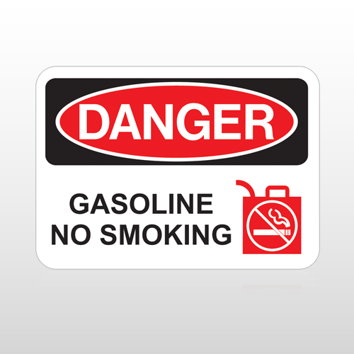 OSHA Danger Gasoline No Smoking