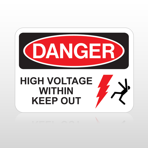 OSHA Danger High Voltage Within Keep Out