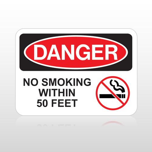 OSHA Danger No Smoking Within 50 Feet