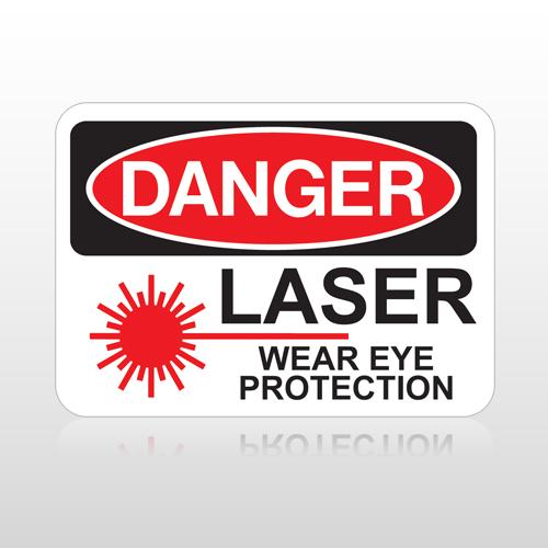 OSHA Danger Laser Wear Eye Protection