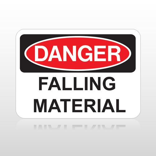 OSHA Danger Falling Material