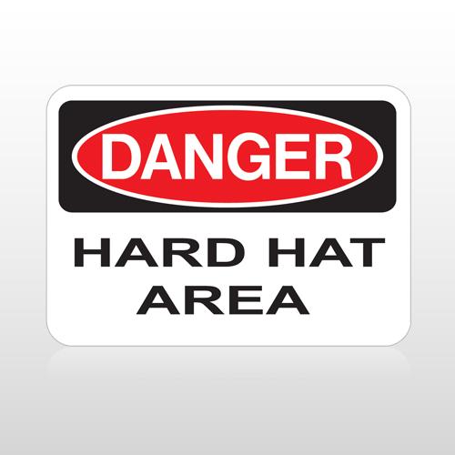OSHA Danger Hard Hat Area