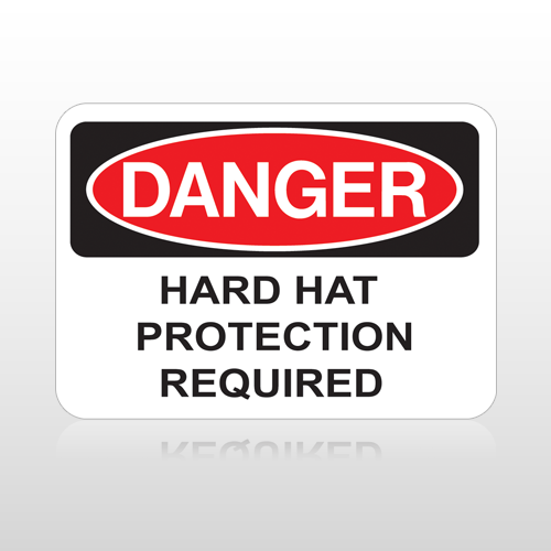 OSHA Danger Hard Hat Protection Required