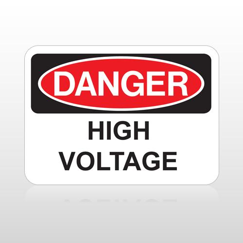 OSHA Danger High Voltage