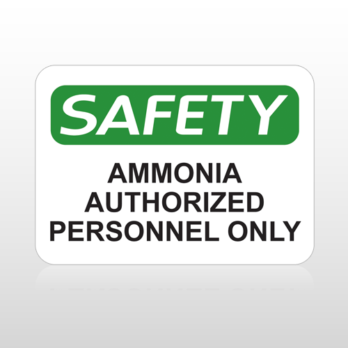 OSHA Safety Ammonia Authorized Personnel Only
