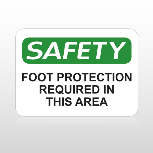OSHA Safety Foot Protection Required In This Area