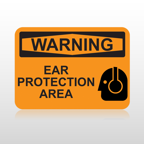 OSHA Warning Ear Protection Area
