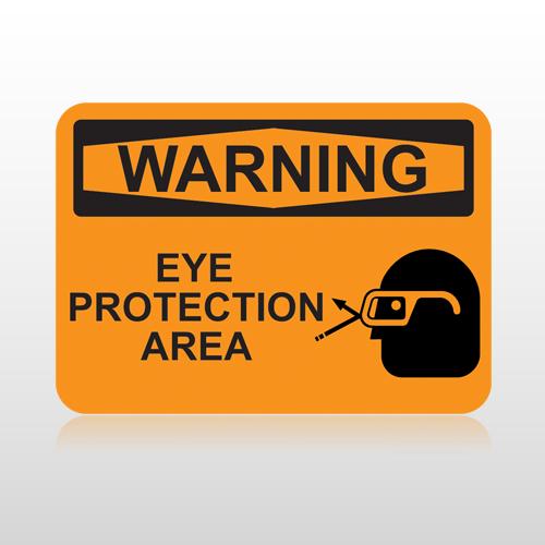 OSHA Warning Eye Protection Area